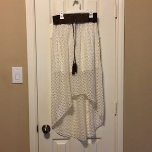High Low Lace Skirt w/ Belt